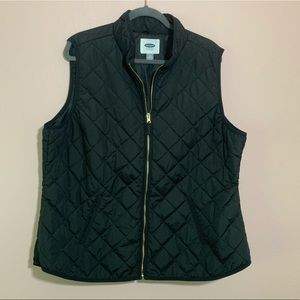 Old navy black quilted puffer vest plus 2x